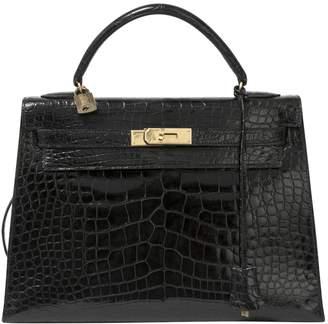Hermes Kelly 32 Alligator Crossbody Bag