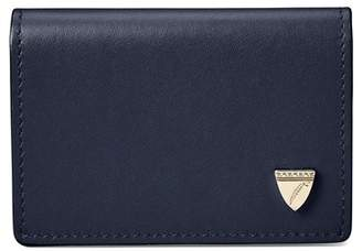 Aspinal of London Accordion Zipped Credit Card Holder In Smooth Blue Moon