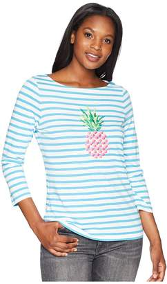 Tommy Bahama Embroidered Pineapple Tee Women's T Shirt