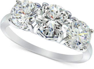 Giani Bernini Cubic Zirconia Trinity Ring in Sterling Silver, Created for Macy's