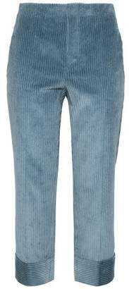 Brunello Cucinelli Cropped Cotton-Corduroy Straight-Leg Pants