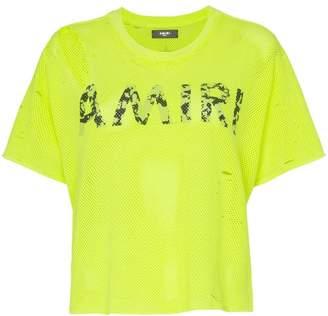 Amiri Logo mesh T-Shirt