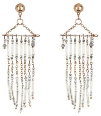 AREA STARS Triangle Top Fringe Dangle Earrings