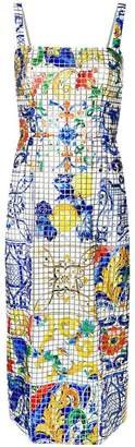 Dolce & Gabbana Majolica tile dress