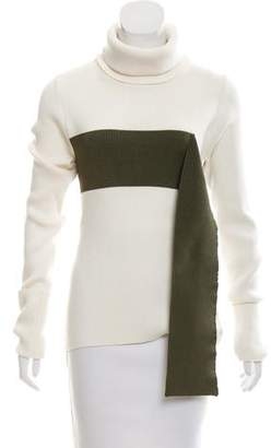 Monse Turtleneck Two-Tone Sweater w/ Tags
