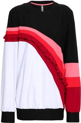 NO KA 'OI カラーブロック ラッフル付き ストレッチジャージー スウェットシャツ