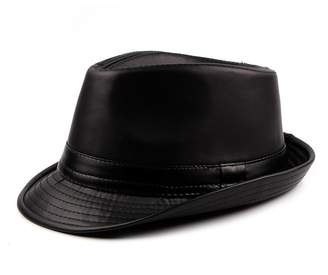 doublebulls hats PU Leather Fedora Hat Mens Boys Winter Trilby Hat Jazz  Gentlemens Choice e78dc17b3516