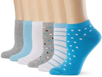 My Way MyWay Women's Blue Daydream Ankle Socks (Pack of 6), Multicoloured (blue)