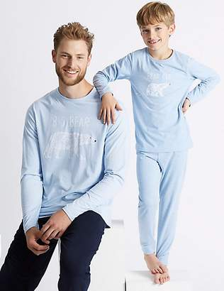 Marks and Spencer Mini Me Polar Bear Pyjamas (3-16 Years)