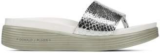 Donald J Pliner FIFI19, Mirror Metallic Snake Platform Sandal
