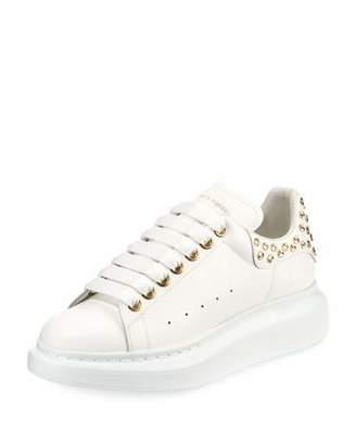 Alexander McQueen Pelle Studded Low-Top Platform Sneakers