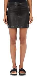 Helmut Lang Women's Grained Leather Miniskirt-Blk