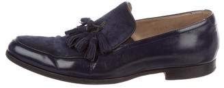 Mr. Hare Tassel Suede & Leather Loafers