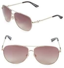 Swarovski 61MM Crystal Aviator Sunglasses