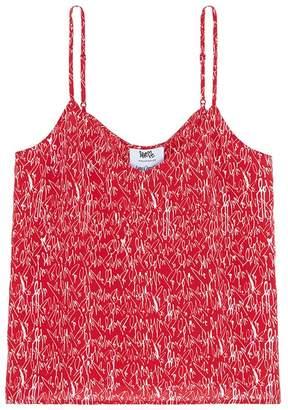 Love Me x Lane Crawford Logo print silk crepe camisole pyjama set