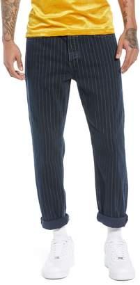 Topman Slim Fit Pinstripe Jeans