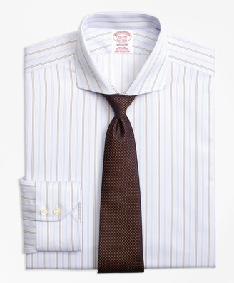 Brooks Brothers Madison Classic-Fit Dress Shirt, Non-Iron Double Alternating Stripe