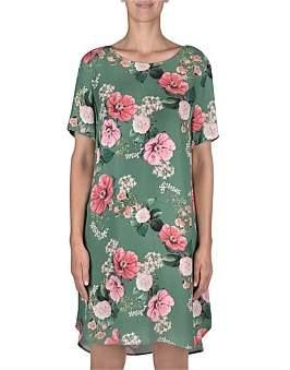 Jump Short Sleeve Floral Print Dress