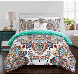 Chic Home Reece 8 Piece Reversible Duvet Cover Set, Bed in a Bag
