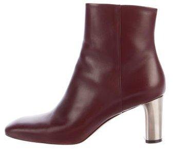 Céline Leather Ankle Boots
