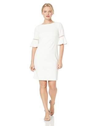 Jessica Howard Women's Petite Tulip Bell Sleeve Shift Dress