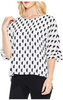 Vince Camuto Women's Graphic Dot Clip Jacquard Dolman-Sleeve Blouse