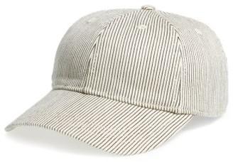 Women's Madewell Stripe Baseball Cap - Blue $26.50 thestylecure.com