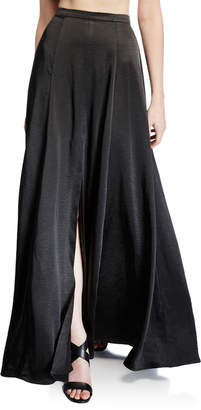 Fame & Partners The Zita Two-Piece Satin Twill Crop Top & Skirt Set