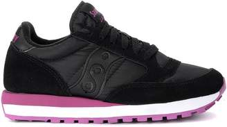 Saucony Jazz Black And Pink Suede And Fabric Sneaker