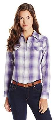 Wrangler Women's Western Plaid Shirt