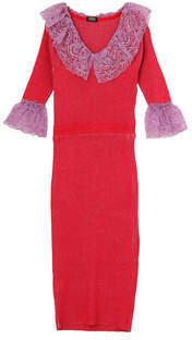 PAMEO POSE (パメオ ポーズ) - Lace Collar Knit Dress
