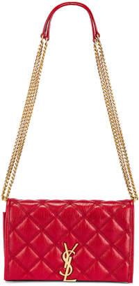 Saint Laurent Chain Wallet Bag in Rouge Eros   FWRD