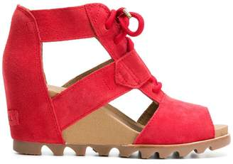 Sorel cut out wedge sandals