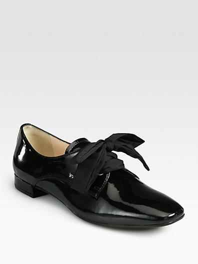 Prada Patent Leather Oxfords
