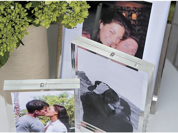 Crate & Barrel Acrylic Block Picture Frames