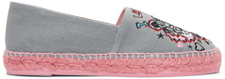 Kenzo Grey Limited Edition 'Tiger x I Love You' Espadrilles $175 thestylecure.com