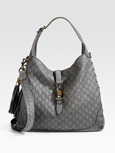 Gucci New Large Jackie Guccissima Leather Shoulder Bag