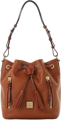 Dooney & Bourke Pebble Leather Cooper Drawstring Bag
