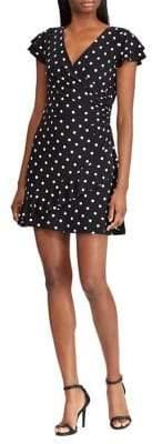 Lauren Ralph Lauren Polka-Dot Ruched Jersey Dress