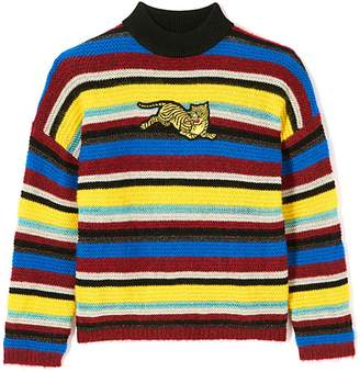 Kenzo Jumping Tiger Striped Wool-blend Jumper