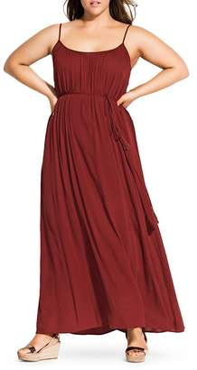 City Chic Plus Paradise Maxi Dress