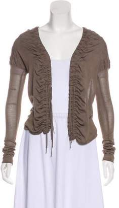 Gucci Ruched Knit Cardigan