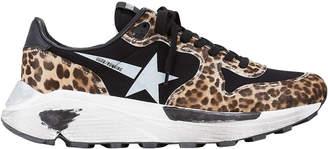 Golden Goose Leopard White Star Running Sneakers