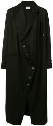 Balossa White Shirt asymmetric front trench coat