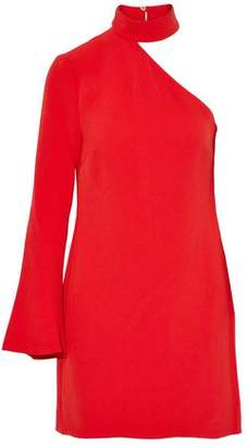 Rachel Zoe One-Shoulder Crepe Mini Dress