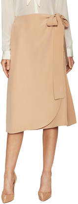 Celine Silk Self Tie Midi Skirt