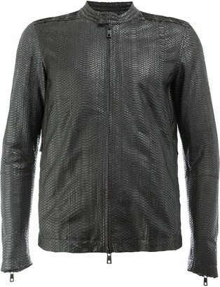 Giorgio Brato snakeskin effect leather jacket
