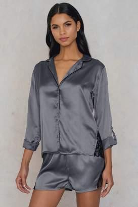 Rut & Circle Rut&Circle Fedelia satin shirt Grey