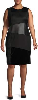 Calvin Klein Plus Sleeveless Sheath Dress