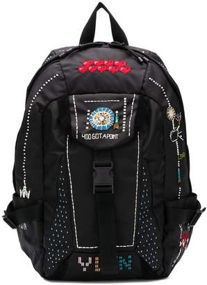 Valentino patchwork functional backpck